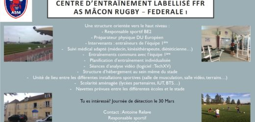 Sportovní testy MACON – Francie