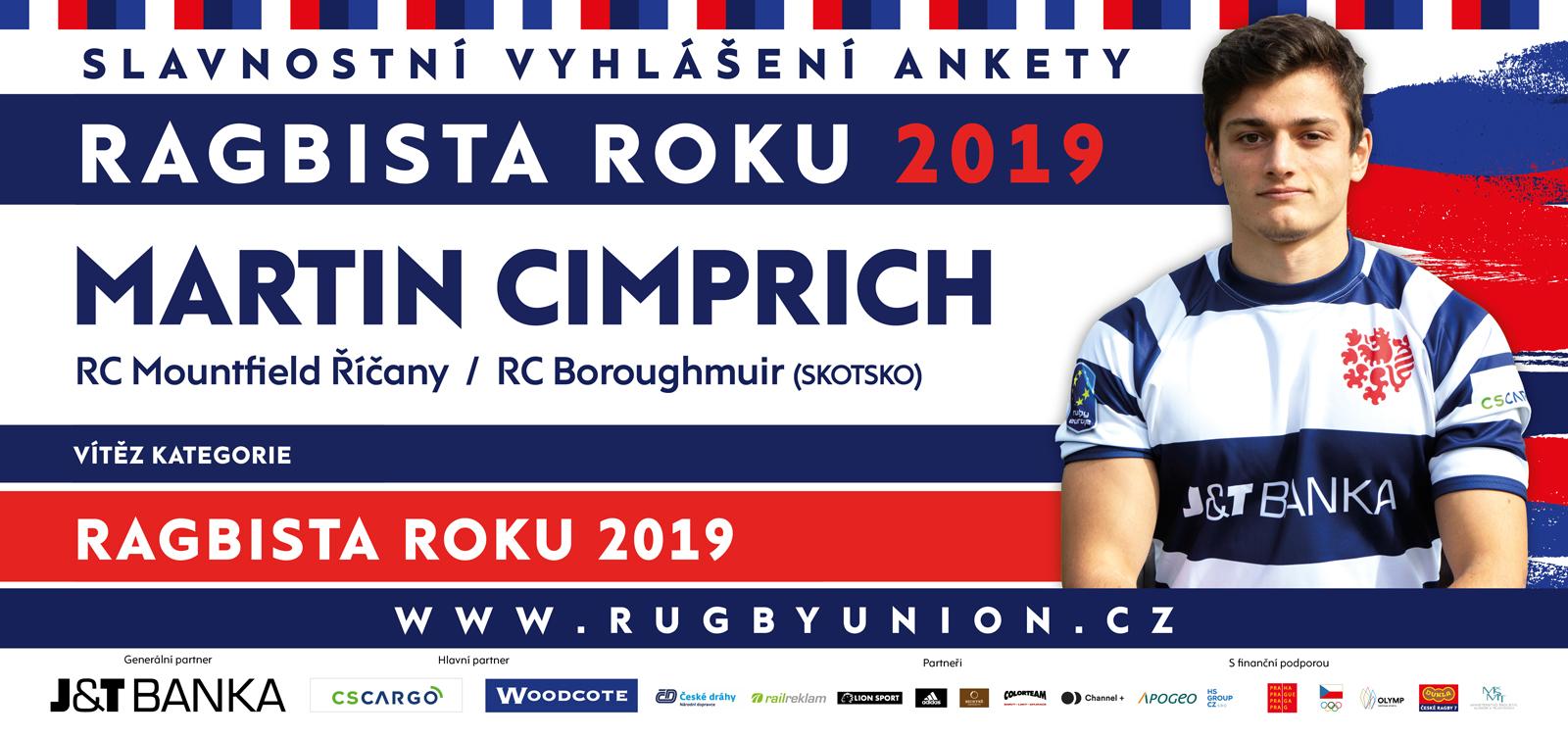 České ragby, vyhlásilo vítěze 48. ročníku Ankety Ragbista roku 2019